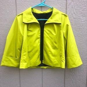 Carlisle neon cropped jacket size 8